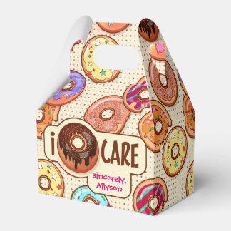 I Doughnut Care Cute Funny Donut Sweet Treats Love Favor Box