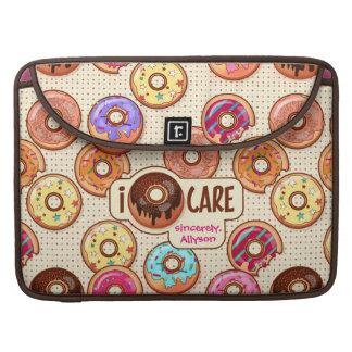 I Doughnut Care Cute Funny Donut Sweet Treats Love Sleeve For MacBooks