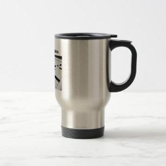 I dream in black and white travel mug