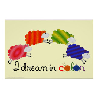I Dream In Color Sheep Poster