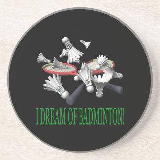 I Dream Of Badminton Coaster