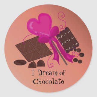 I Dream of Chocolate Classic Round Sticker