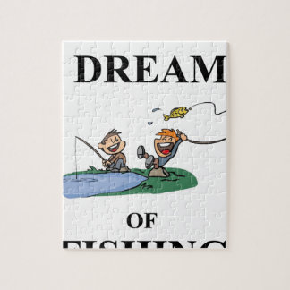 I Dream Of Fishing Jigsaw Puzzle