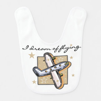 I Dream of Flying Airplane Bib