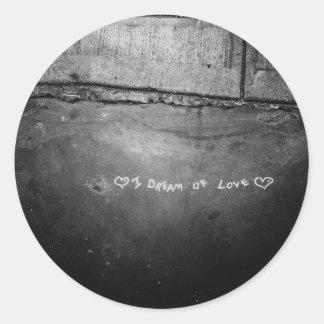 I Dream of Love Classic Round Sticker