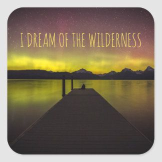 I Dream Of The Wilderness Aurora Borealis Stickers