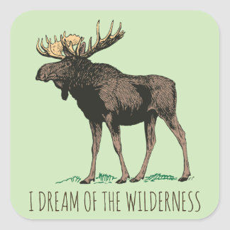 I Dream Of The Wilderness Moose Stickers