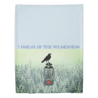 I Dream Of The Wilderness Raven On Lantern Duvet Cover