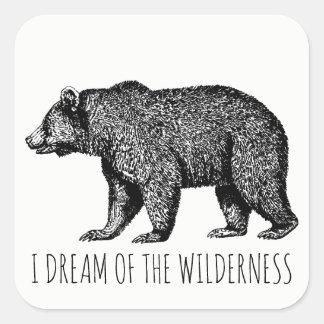 I Dream Of The Wilderness Walking Bear Stickers
