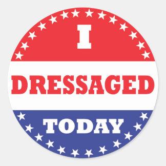 I Dressaged Today Classic Round Sticker