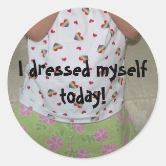 I Dressed Myself Sticker