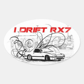 I Drift RX7 Oval Stickers