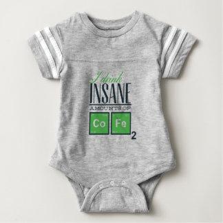 I drink insane amounts of code, geek design baby bodysuit