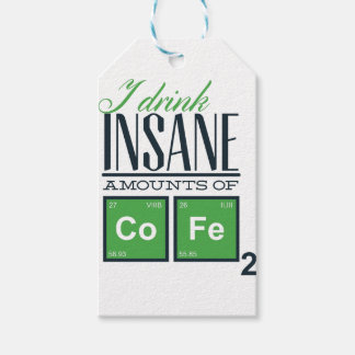 I drink insane amounts of code, geek design gift tags