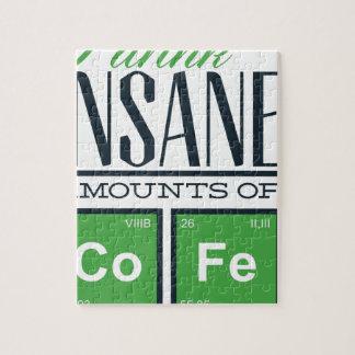 I drink insane amounts of code, geek design jigsaw puzzle