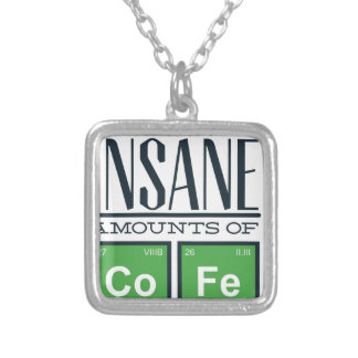 I drink insane amounts of code, geek design silver plated necklace
