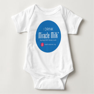 """I Drink Miracle Milk"" Baby Bodysuit"