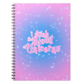 I Drink The Blood Of Unicorns Frappe Funny Notebooks