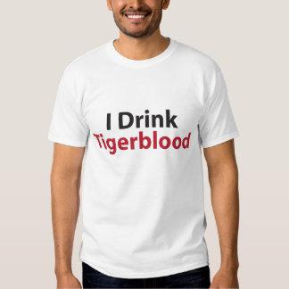 i drink tiger blood tee shirts