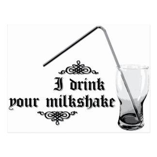 I Drink Your Milkshake Postcards