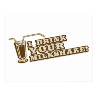I drink your milkshake there will be blood postcard
