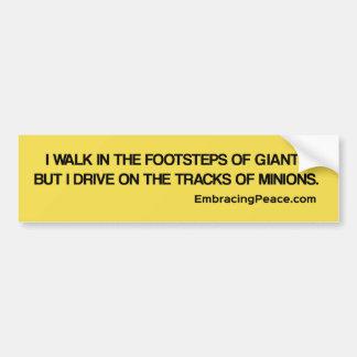 I drive in the track of minions bumper sticker