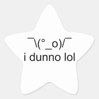 i dunno lol ¯\(°_o)/¯ star sticker