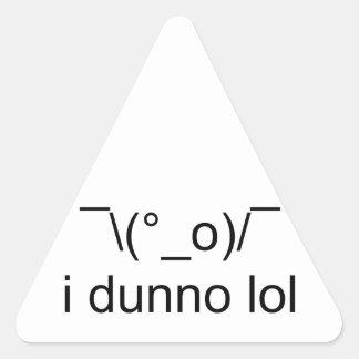 i dunno lol ¯\(°_o)/¯ triangle sticker