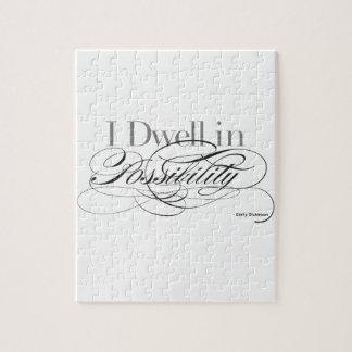 I Dwell in Possibility - Emily Dickinson Quote Jigsaw Puzzle