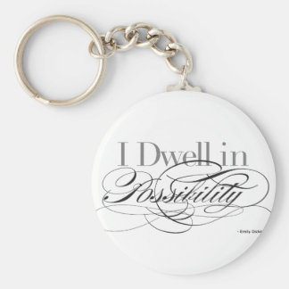 I Dwell in Possibility - Emily Dickinson Quote Keychain