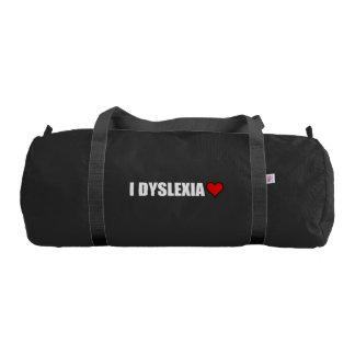 I Dyslexia Love Heart Gym Bag