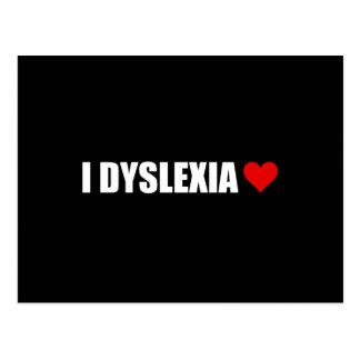 I Dyslexia Love Heart Postcard