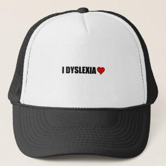 I Dyslexia Love Heart Trucker Hat