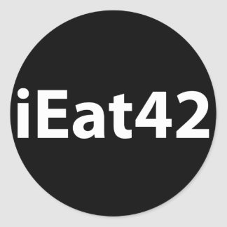 I Eat 4 2 Classic Round Sticker