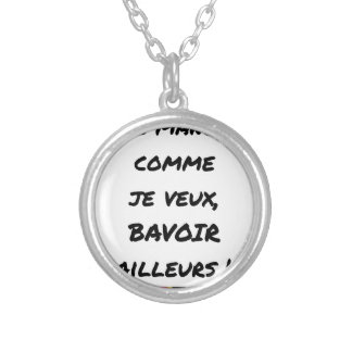 I Eat as I want, BIB ELSEWHERE Silver Plated Necklace