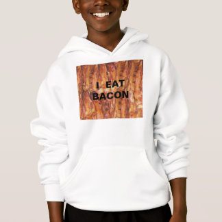 I Eat Bacon Text with Background