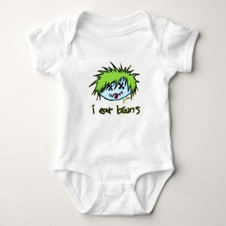 """i eat brains"" Dude Zombie (on dark background) T-shirts"