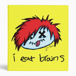 """i eat brains"" Emo Zombie 3 Ring Binders"