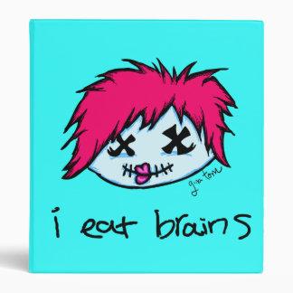 """i eat brains"" Trendy Zombie Binder"
