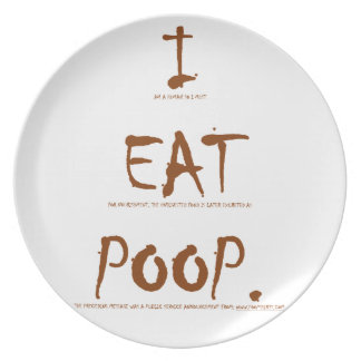 I EAT POOP (scientific explanation) Party Plates