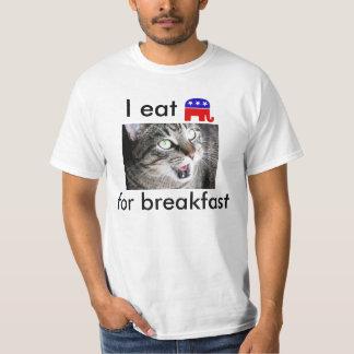 I Eat Republican Elephants For Breakfast Tee Shirts