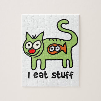 I eat stuff kitty! jigsaw puzzle