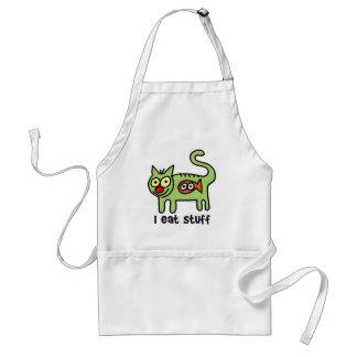 I eat stuff kitty! standard apron