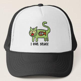 I eat stuff kitty! trucker hat