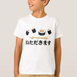 I Eat Sushi Kid's T Shirts