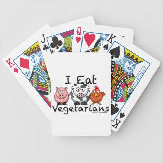 I Eat Vegitarians Bicycle Playing Cards