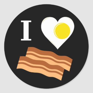 I egg-heart bacon sticker