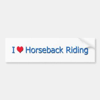 I équitation de coeur (amour) autocollant de voiture
