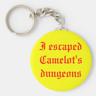 I escaped Camelot's dungeons Basic Round Button Keychain