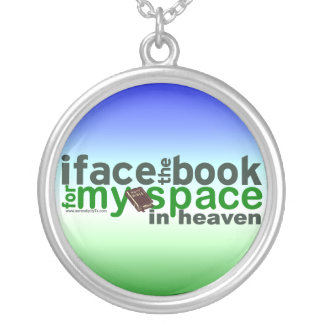 I Face the Book for Myspace Custom Necklace